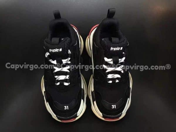 Giày Balenciaga Triple S trẻ em màu đen