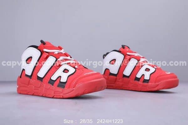 Giày trẻ em Nike Air More Uptempo full màu đỏ