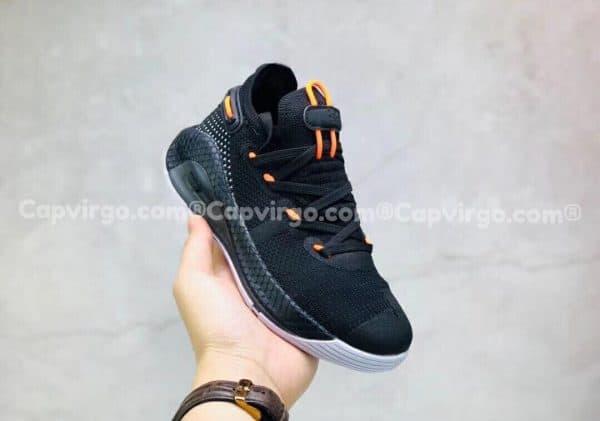 Giày trẻ em Under Armour curry 6 màu đen dây cam