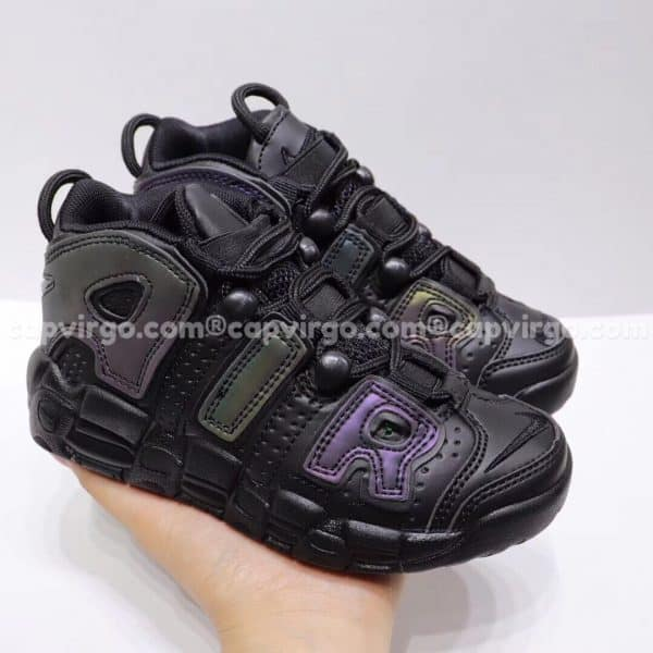 Giày trẻ em Nike Air More Uptempo màu đen tím