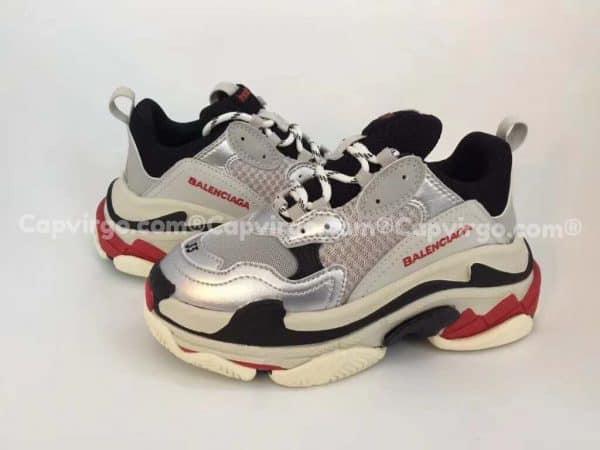 Giày Balenciaga Triple S trẻ em màu xám bạc