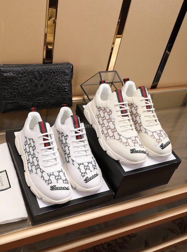 Giày gucci phiên bản dành riêng cho phái nữ màu ghi