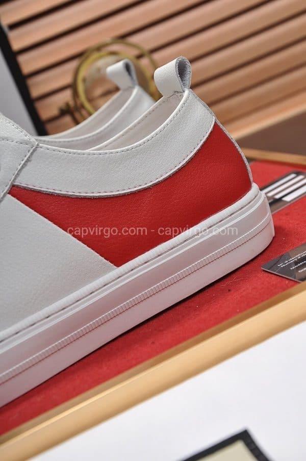 Giày gucci 3 màu trắng đỏ đen đế vàng