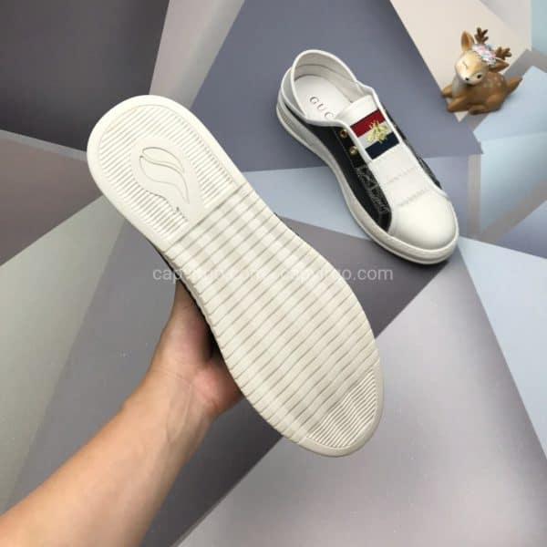 Giày gucci ong màu đen gót trắng NY 5G