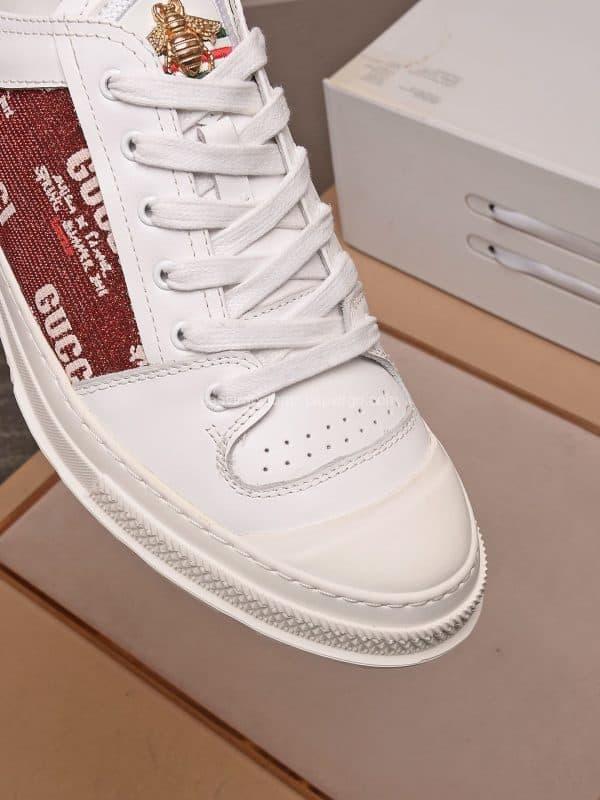Giày gucci ong màu trắng lưng nâu siêu cấp