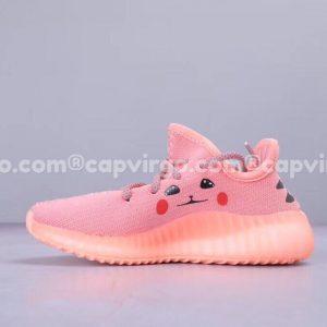 Giày trẻ em Yeezy 350 v2 Pikachu màu hồng bản limited