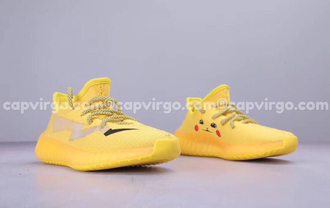 Giày trẻ em Yeezy 350 v2 Pikachu màu vàng bản limited