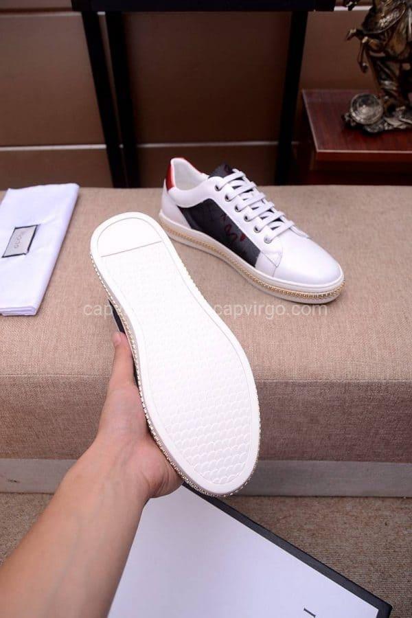 Giày gucci màu trắng lưng chữ Baby