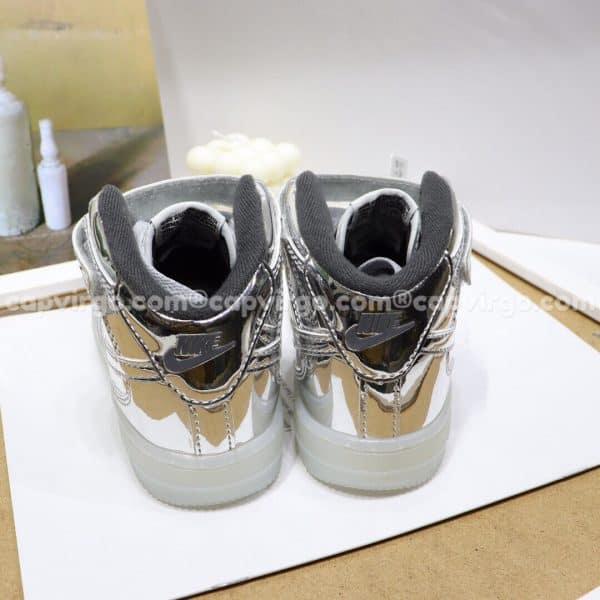 Giày trẻ em nike Force 1 đế đèn màu ánh bạc