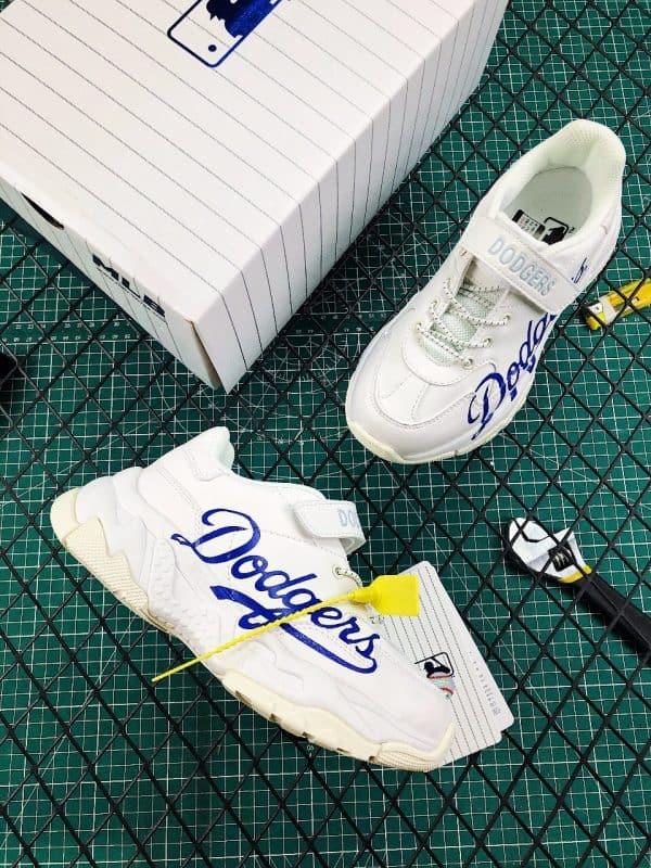 Giày trẻ em MLB Dodgers Big Ball Chunky A màu trắng