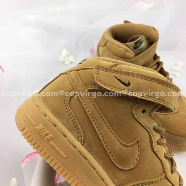 Giày trẻ em nike Force 1 màu vàng da bò