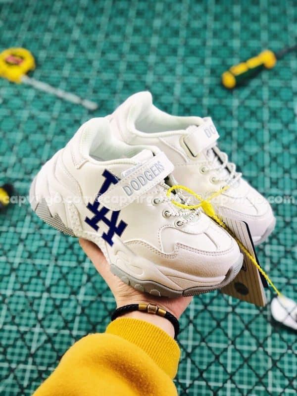 Giày trẻ em MLB LA Dodgers Big Ball Chunky A màu trắng