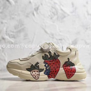 Giày trẻ em giày Gucci Rhyton Vintage dâu