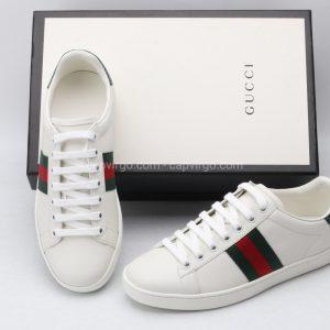 Giày gucci màu trắng xanh và đỏ ( Green And Red)