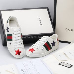 Giày gucci màu trắng họa tiết sao 3 màu