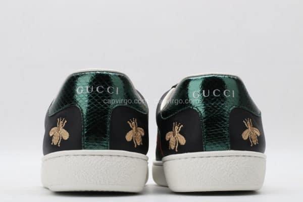 Giày gucci màu đen họa tiết ong (bee)
