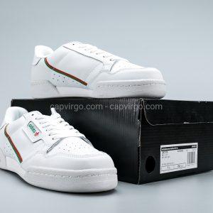 Giày Adidas Continental drop step màu trắng viền xanh