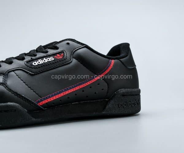 Giày Adidas Continental drop step màu đen viền đỏ
