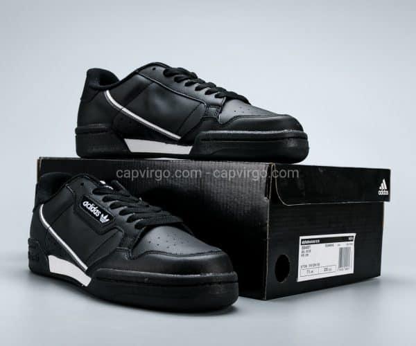 Giày Adidas Continental drop step màu đen viền trắng