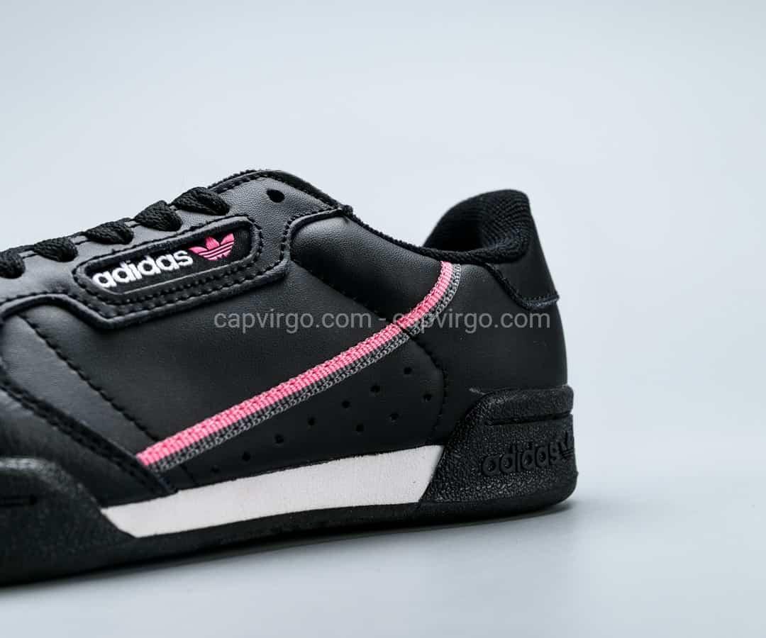 Giày Adidas Continental drop step màu đen viền hồng