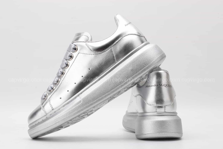 Giày McQueen rep 1:1 full màu bạc