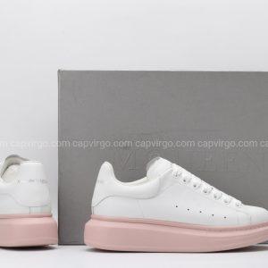 Giày McQueen trắng đế màu nâu đất