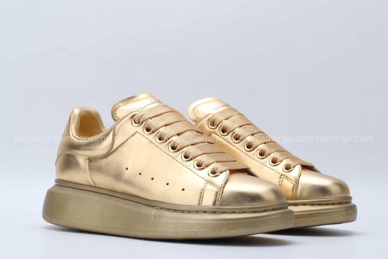 Giày McQueen full vàng đồng