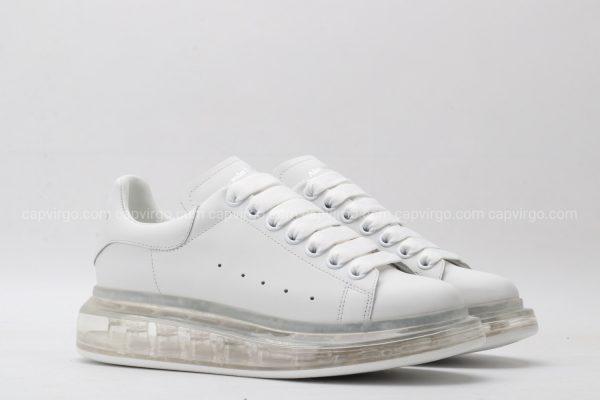 Giày McQueen full trắng đế hơi