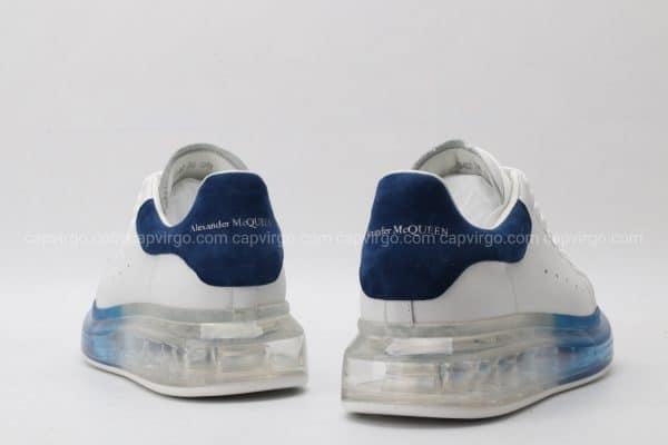 Giày McQueen đế mũi xanh thân trắng gót nỉ