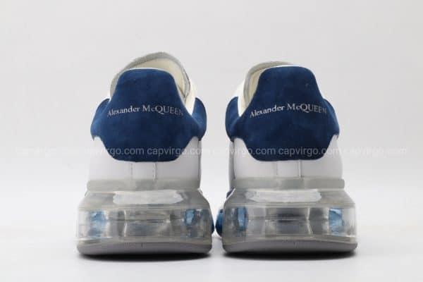 Giày McQueen đế hơi gót mũi màu xanh