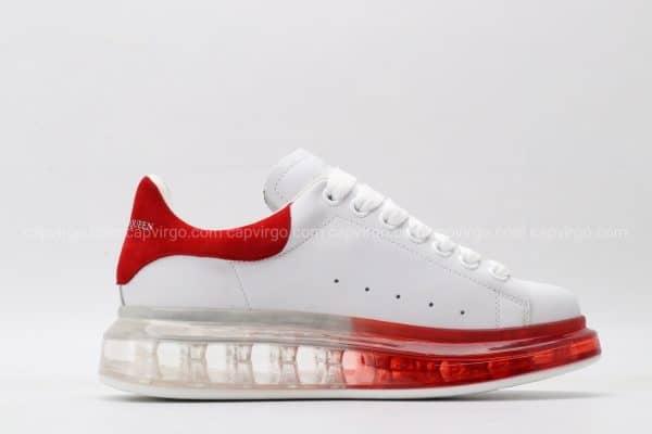 Giày McQueen đế hơi gót mũi màu đỏ