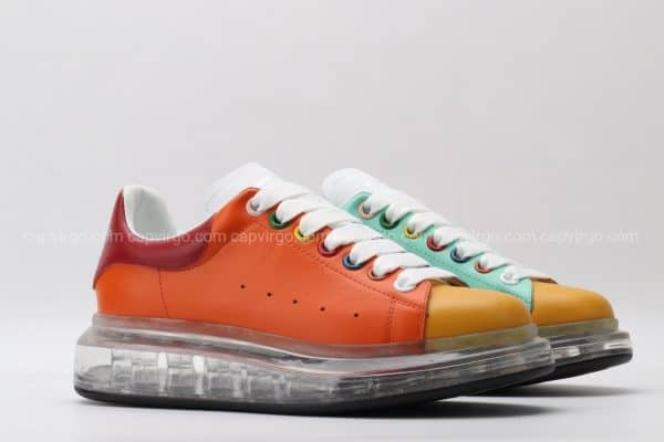 Giày McQueen đế hơi nhiều màu ( Cam- Đỏ - Xanh)