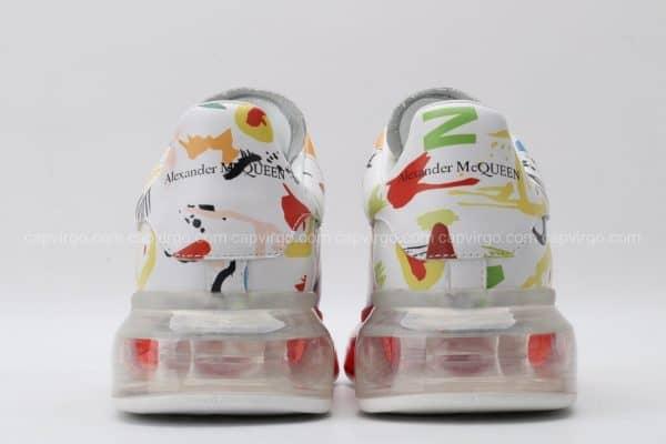 Giày McQueen đế hơi paint mũi đỏ siêu cấp