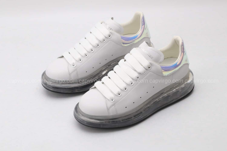 Giày McQueen đế hơi full trắng gót bóng
