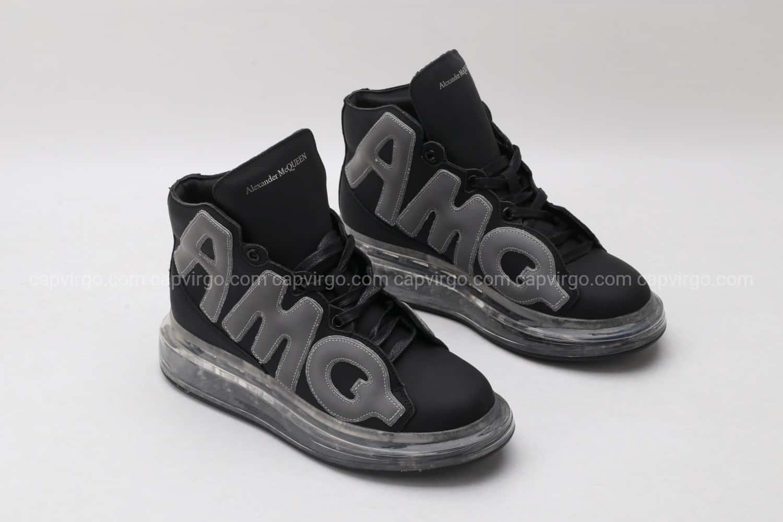 Giày McQueen cao cổ đế hơi AMQ full đen