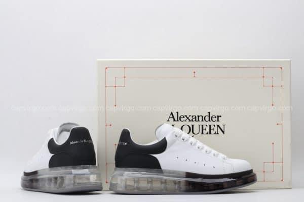 Giày McQueen siêu cấp đế hơi mũi trắng gót đen