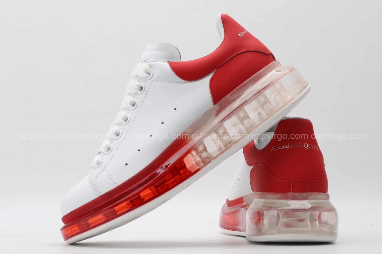 Giày McQueen siêu cấp đế hơi trắng gót đỏ