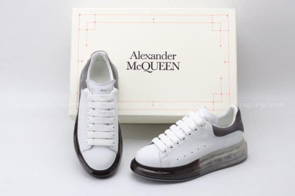 Giày McQueen đế hơi trong trắng gót xám