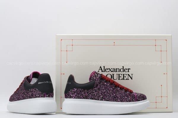 Giày McQueen màu tím kim tuyến hiếm nhất Việt Nam