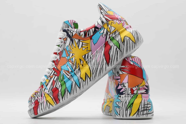 Giày McQueen rep 1:1 họa tiết paint nhiều màu