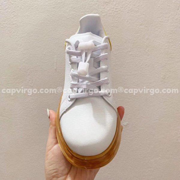 Giày trẻ em Alexander mcqueen trắng vàng đế trong