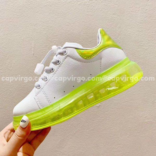Giày trẻ em Alexander mcqueen trắng xanh non đế trong