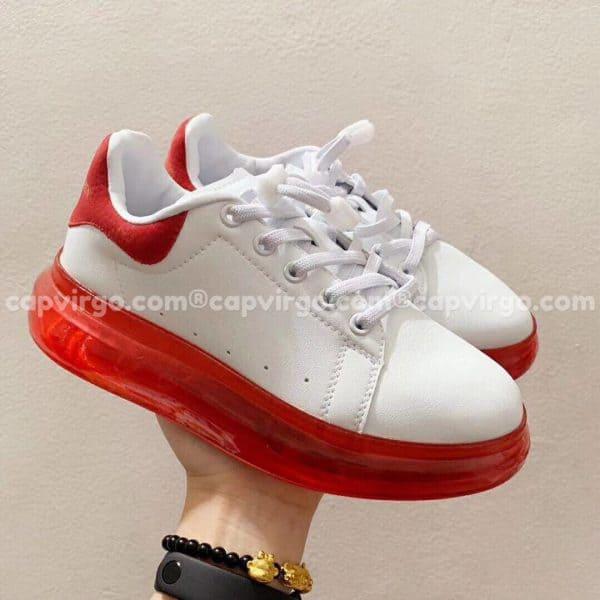 Giày trẻ em Alexander mcqueen trắng đỏ đế trong