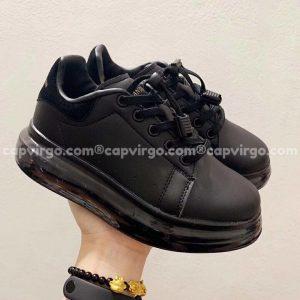 Giày trẻ em Alexander mcqueen full đen đế trong