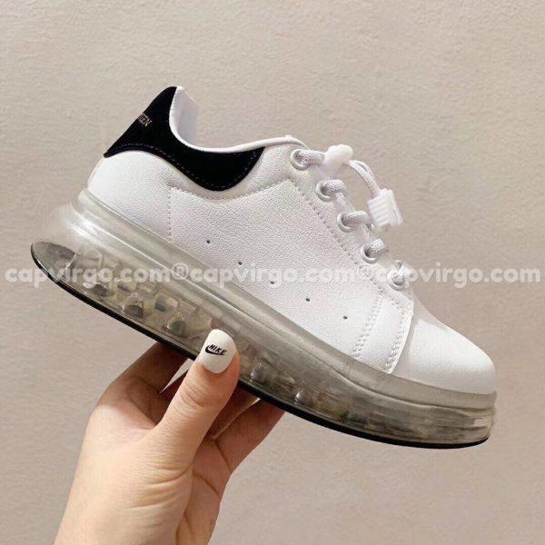 Giày trẻ em Alexander mcqueen đen trắng đế trong