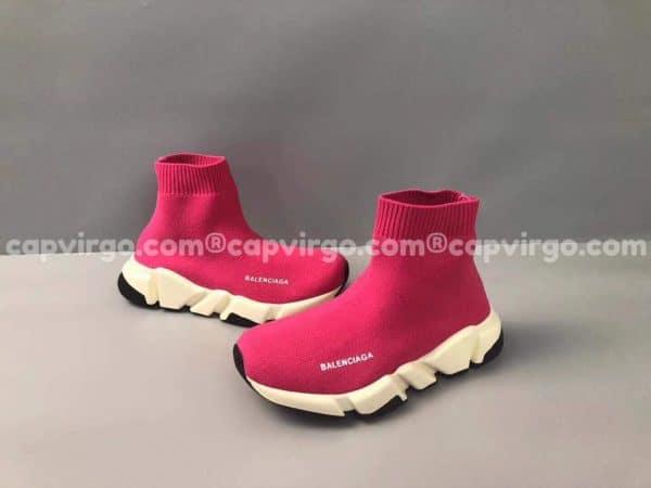 Giày Balenciaga cao cổ màu hồng đế trắng đen