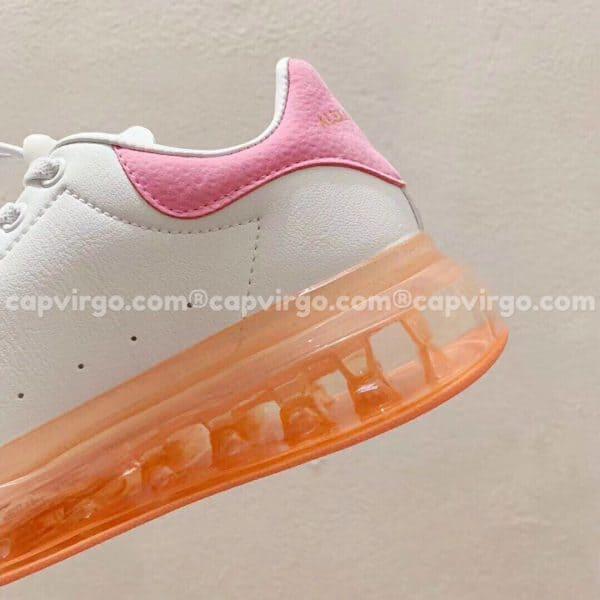 Giày trẻ em Alexander mcqueen trắng hồng nhạt đế trong