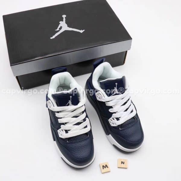 Giày trẻ em Air Jordan 4 màu xanh than