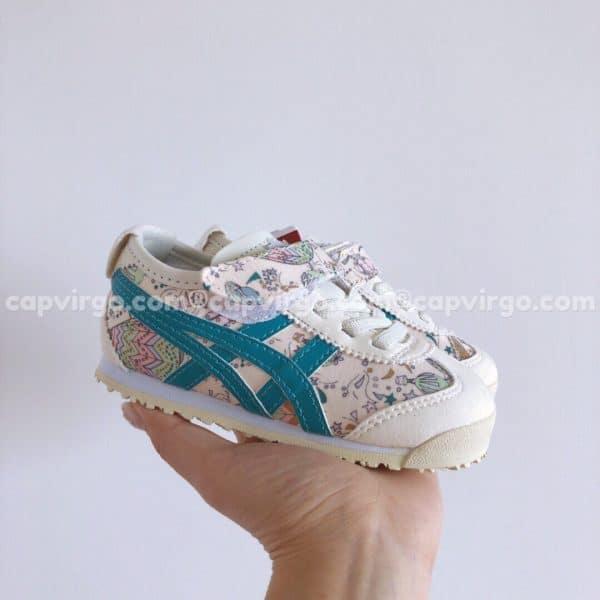 Giày trẻ em Onitsuka Tiger màu trắng họa tiết ngôi sao