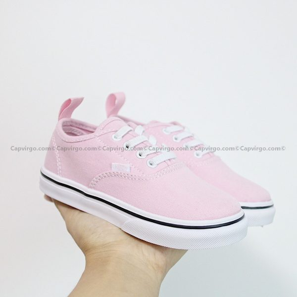Giày Vans buộc dây màu hồng trơn